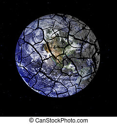outer, пространство, хрупкое, планета, cracking, земля, кроме