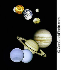 outer, planets, space.