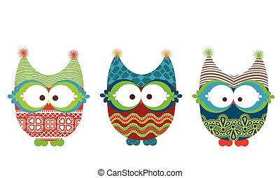 owls, зима