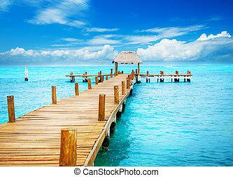 paradise., тропик, mujeres, отпуск, мол, мексика, isla