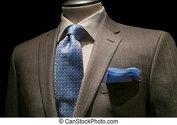 patterned, синий, крупный план, носовой платок, рубашка, textured, вырезка, куртка, background., черный, included., галстук, белый, дорожка, в полоску, загар