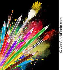 pencils, цвет