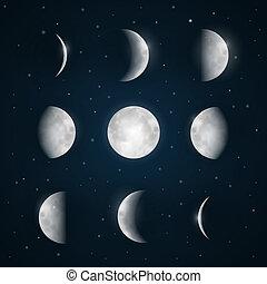 phases, -, небо, луна, число звезд:, ночь