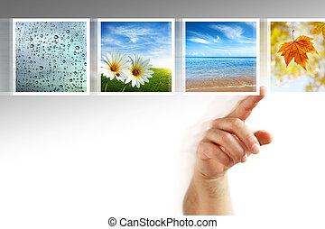 photos, сенсорный экран