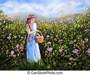 picking, цветы
