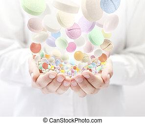 pills, красочный