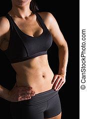 posing, раздел, стройный, поместиться, середине, спортивная одежда, женщина