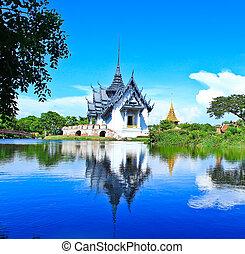 prasat, дворец, sanphet, таиланд, бангкок
