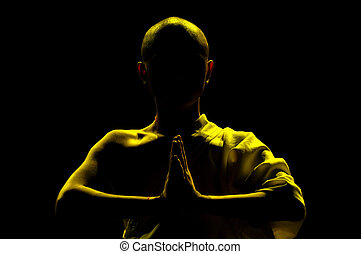 praying, монах