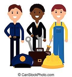 professionals, workers, группа