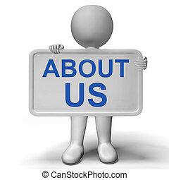 profile, информация, около, компания, нас, знак, показ