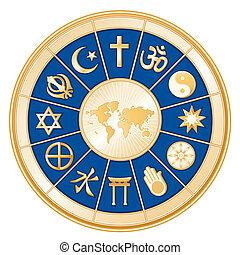 religions, карта, мир