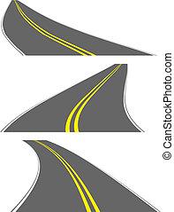 roads, вектор, перспективный