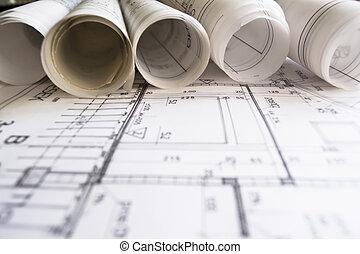 rolls, plans, архитектор