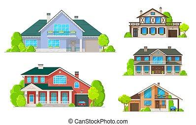roofs, buildings, окна, главная, дом, или, doors