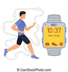 running., tracker., 01, фитнес