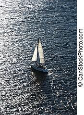 sailing., лодка