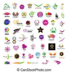 salons, logos, красота, коллекция, вектор, cosmetics