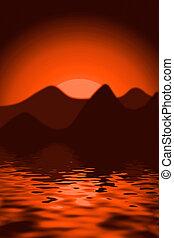 scenics, закат солнца