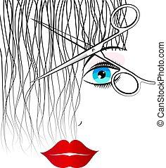 scissors, салон, порез, curls, красота