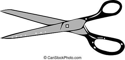 scissors, символ, белый, isolated, задний план
