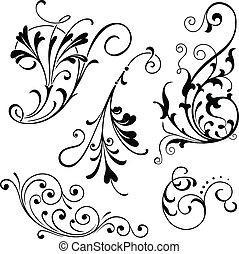 scrolls, цветочный