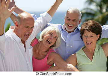 seniors, счастливый