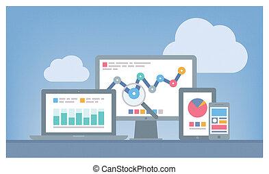 seo, web, концепция, analytics