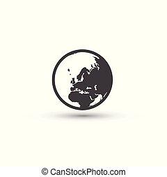 sign., symbol., планета, земля, мир, icon.