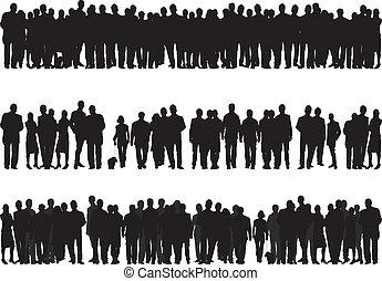silhouettes, люди