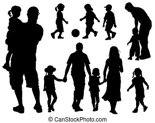 silhouettes, семья