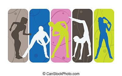 silhouettes, фитнес