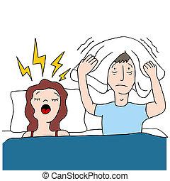 snoring, жена