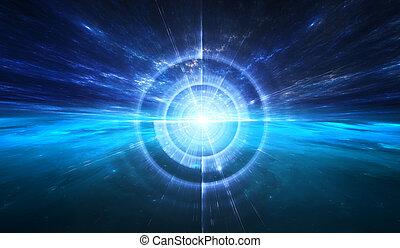 space., деформироваться, время, путешествие