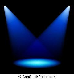 spotlights, сцена