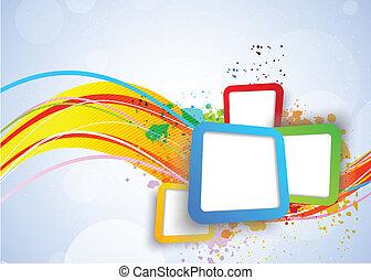 squares, красочный, задний план