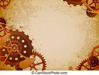 steampunk, задний план