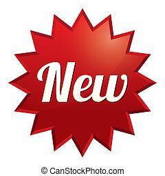 sticker., offer., особый, новый, tag., красный, значок
