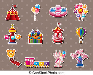 stickers, мультфильм, детская площадка