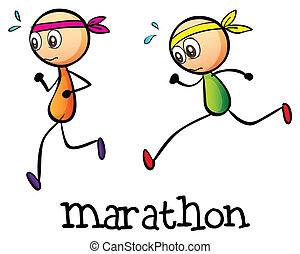 stickmen, два, марафон, между