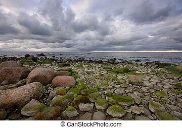 stones, море, банка