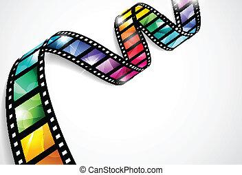 strips, красочный, фильм