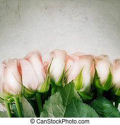styled, roses., марочный, красивая