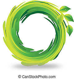 swirly, логотип, leafs