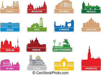 symbols, город, европейская