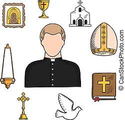 symbols, религиозная, священник, профессия