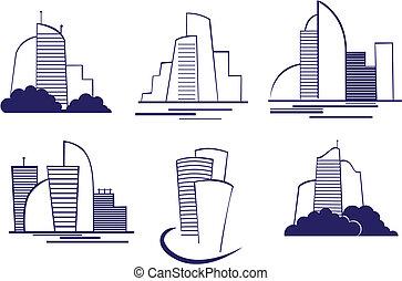 symbols, buildings
