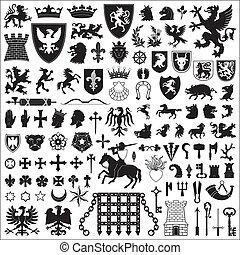 symbols, elements, геральдический