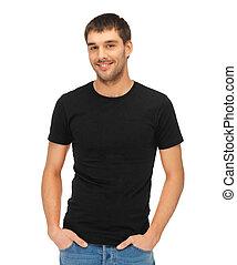 t-shirt, человек, черный, пустой