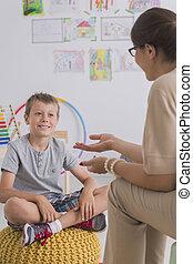 talking, мальчик, маленький, психотерапевт